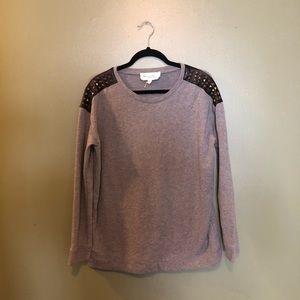 Two by Vince Camuto Grey Sweater- Medium